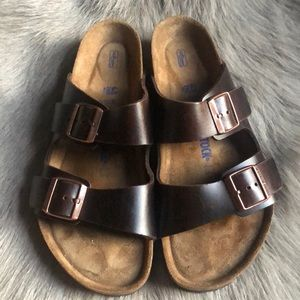 Birkenstock Arizona Brown Leather Sandals 43